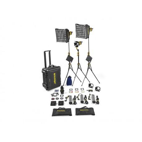 Hard Case Lichtkit mit 3 DLED7 Bi-Color Turbo Leuchten