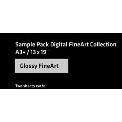 Sampel Pack A4, Glossy Fine Art Hahnemühle