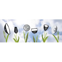 Aktion Hensel Blitzgeräte kaufen , kostenlos ein Lichtformer