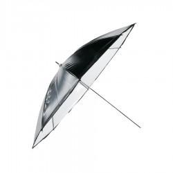 Schirm 82cm, schwarz,weiß , Economy Hensel